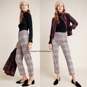 NWT ANTHROPOLOGIE Malcolm Plaid Tapered Trousers